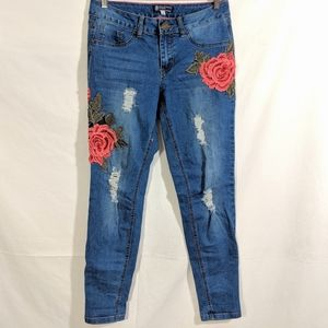 Boom Boom Jeans With 3D Roses